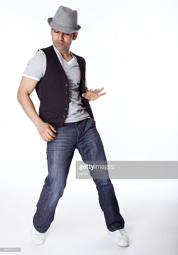 Indian dancer striking a pose