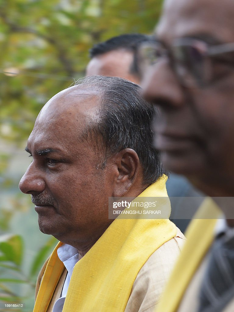 Indian Defence minister A.K. Antony attends a convocation ceremony at the Indian Stastical Institute (ISI) in Kolkata on January 9, 2013. Antony said the Pakistan army was guilty of 'inhuman' behaviour in the treatment of the bodies while newspaper headlines stoked the tensions, with the Mail Today denouncing 'Pak Army Butchers'. India delivered a dressing-down Wednesday to Islamabad's envoy to Delhi as it accused Pakistan's army of beheading one of two soldiers killed in Kashmir, but both sides warned against inflaming tensions. AFP PHOTO/Dibyangshu SARKAR