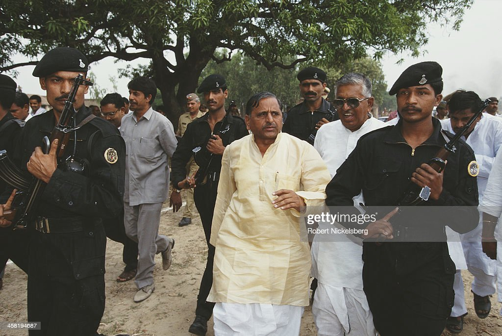 Indian Defence Minister <a gi-track='captionPersonalityLinkClicked' href=/galleries/search?phrase=Mulayam+Singh+Yadav&family=editorial&specificpeople=689640 ng-click='$event.stopPropagation()'>Mulayam Singh Yadav</a>, who belongs to a lower caste, India, 1996.