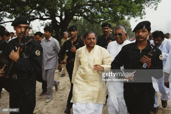 Indian Defence Minister Mulayam Singh Yadav who belongs to a lower caste India 1996