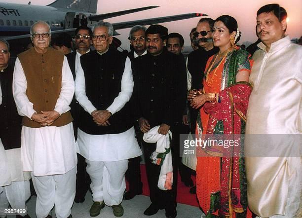 Indian Deputy Prime Minister Lal Krishna Advani Indian Vice President Bhairon Singh Shekhawat Information Minister Ravi Shankar Prasad Jaybrat Roy...