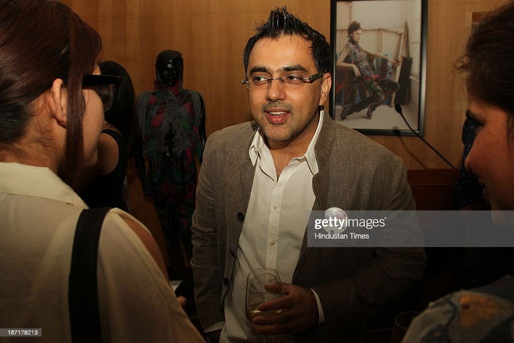 Indian designer Pankaj Ahuja during the announcement of Indian finalists for International Woolmark Prize at Australian High Commission on April 17, 2013 in New Delhi, India. 6 Indian designers were chosen to compete this year for the International Woolmark Prize.