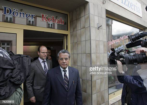Indian diplomat attached to the Indian embassy in Berlin KVS Gopalakrishnan leaves the pizzeria in Muegeln 21 August 2007 where 8 Indian nationals...