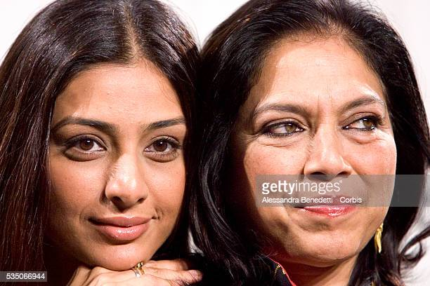 Indian director Mira Nair and actress Tabu attend a photocall to present her latest movie 'The Namesake' presented at the 1st Rome Film Festival