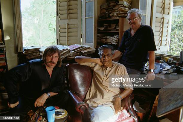 Indian director Satyajit Ray meets French actor Gerard Depardieu