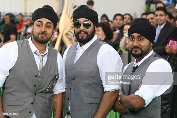 RDB Indian DJs Kuly Manj and Surj Singh arriving at the International Indian Film Academy Awards ceremony at the Hallam Arena in Sheffield for the...