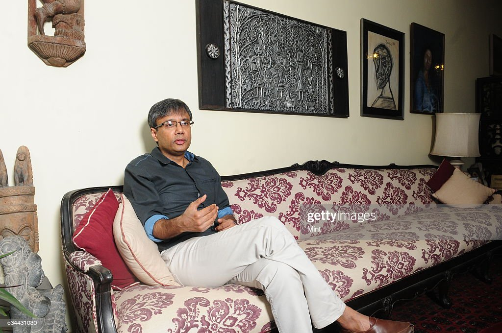 Indian English author and academic Amit Chaudhuri poses for a profile shoot at his home on December 31, 2015 in Kolkata, India.