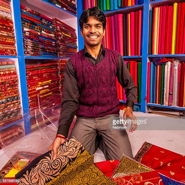 Indian fabric shop, Kathmandu, Nepal