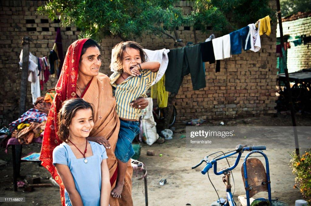 Indian Family : Stock Photo