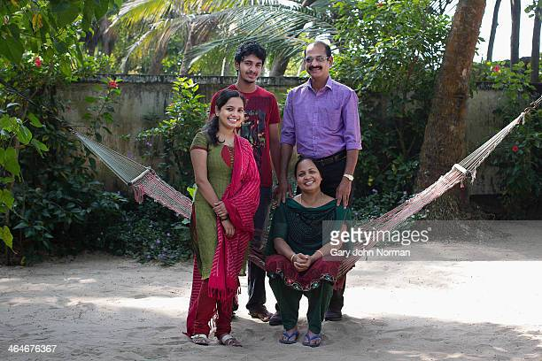 Indian family running a homestay, portrait