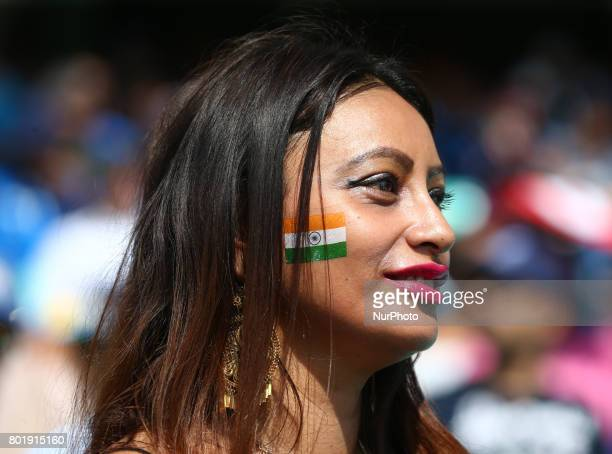 Indian Fan during the ICC Champions Trophy Final match between India and Pakistan at The Oval in London on June 18 2017