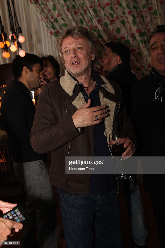 Indian fashion designer Rohit Bal at the launch party of his Luxury Weddings catalogue at Nandiya Gardens, ITC Maurya on December 18, 2013 in New Delhi, India.