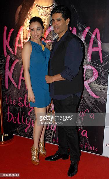 Indian fashion designers Manish Malhotra and Sheetal Mafatlal during the launch of Rochelle Pinto's book 'The Style Diary of a Bollywood Diva' at...