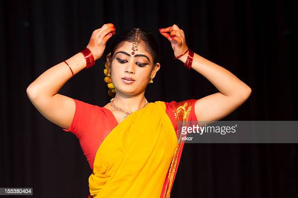 Indian Female Classical Dancer Bharata Natyam