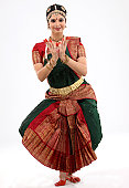indian female performing classical dance