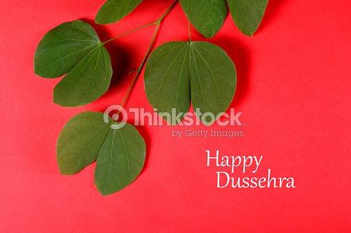 Indian festival dussehra showing golden leaf greeting card stock indian festival dussehra showing golden leaf greeting card m4hsunfo