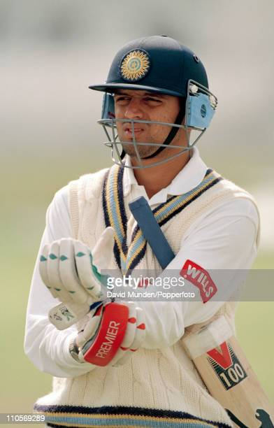 Indian fielder Rahul Dravid prior to the 3rd Test match between England and India at Trent Bridge Nottingham on 4th July 1996 The match ended in a...