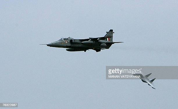 Indian fighter jets the Mirage 2000 and the Sukhoi30 fighter aircraft take part in a mock exercise at the Indian Air Force Station in Gwalior 25...