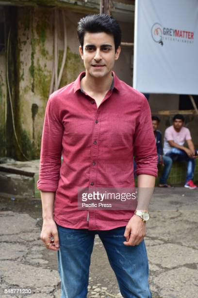 Indian film actor Abhinav Shukla poses during the promotion of their upcoming film Aksar2 on the set of TVs Comedy Dangal in Mumbai