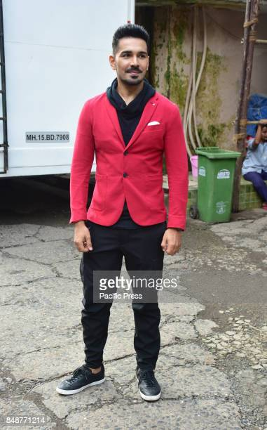 Indian film actor Gautam Rode poses during the promotion of their upcoming film Aksar2 on the set of TVs Comedy Dangal in Mumbai