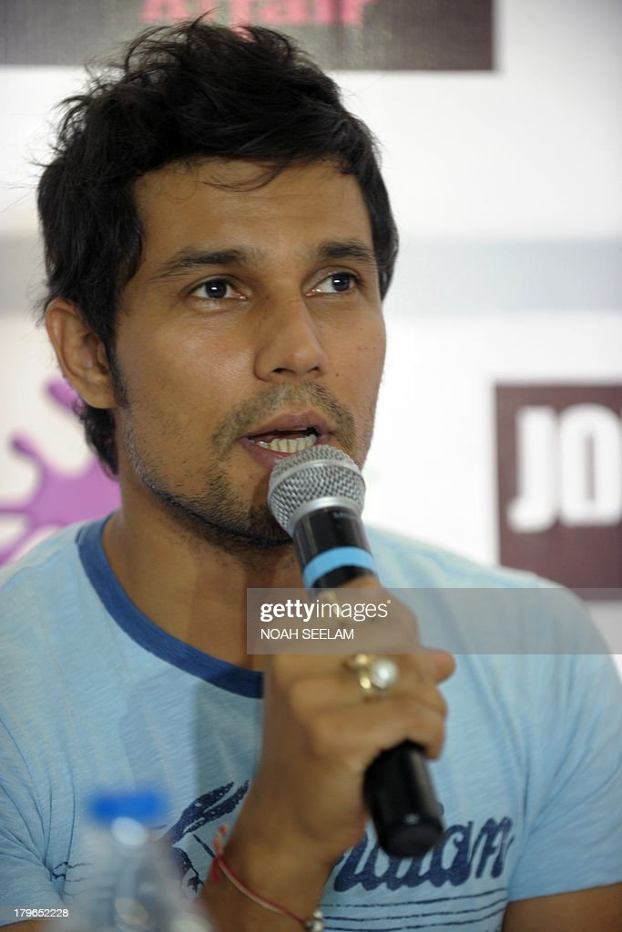 <b>...</b> the upcoming Hindi film &#39;<b>John Day</b>&#39; in Hyderabad on September 6, 2013. - indian-film-actor-randeep-hooda-talks-during-a-promotional-press-for-picture-id179652228