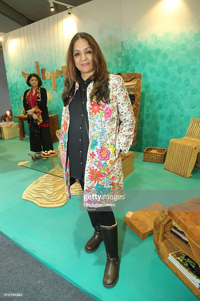 Indian film and television actress Neena Gupta during the preview party of India Design ID 2016 on February 11, 2016 in New Delhi, India. India Design ID is the paramount platform for a new generation of designers. It witnesses the participation of top-notch global design brands, architects and interior designers.