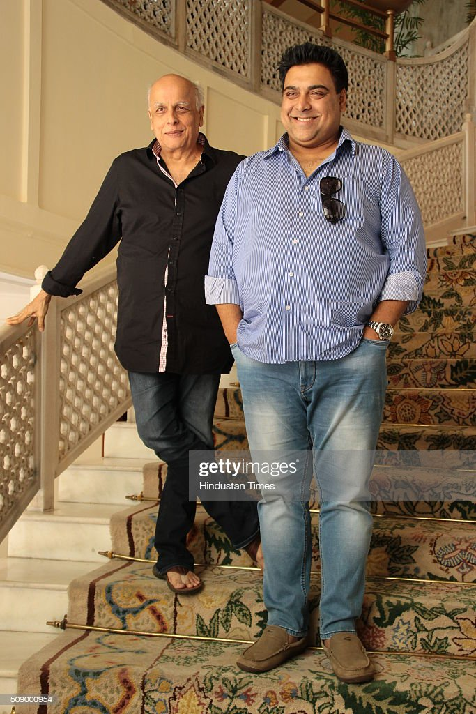 Indian Film director Mahesh Bhatt and actor Ram Kapoor during an exclusive interview with HT City, Hindustan Times at The Taj Mahal Hotel on March 18, 2015 in New Delhi, India.