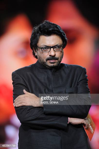 Indian film director Sanjay Leela Bhansali attends the 13th Marrakech International Film Festival on November 29 2013 in Marrakech Morocco AFP PHOTO...