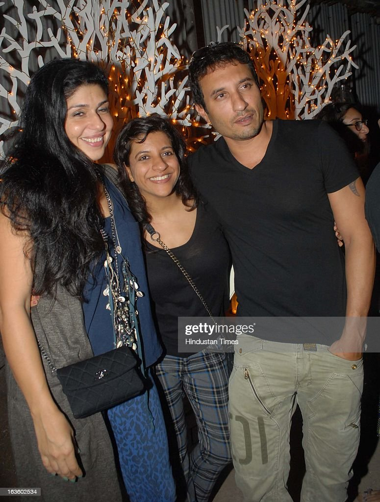 Indian film maker Zoya Akhtar at Special preview of Otlo Design project hosted by Belvedere Vodka at Bhavishyavani Backyard, Bandra on March 11, 2013 in Mumbai, India.