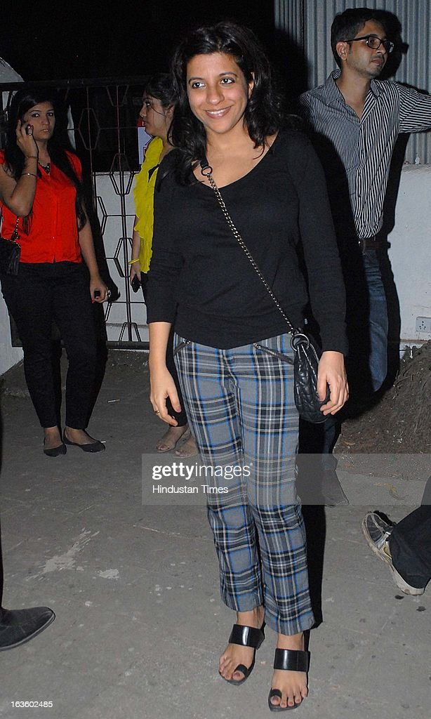 Indian film maker Zoya Akhtar attending Special preview of Otlo Design project hosted by Belvedere Vodka at Bhavishyavani Backyard, Bandra on March 11, 2013 in Mumbai, India.