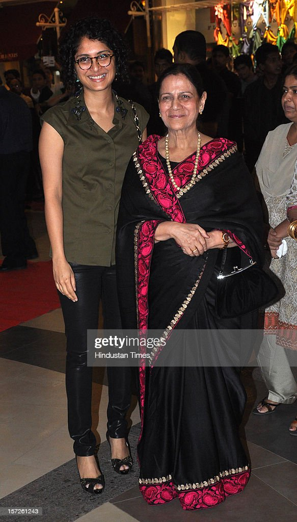 Indian film producer, screenwriter, and director Kiran Rao and the wife of actor Aamir khan attending special screening of Film 'Talaash' at Phoenix Marketcity Mall, Kurla on November 29, 2012 in Mumbai, India.