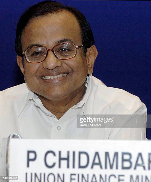 Indian Finance Minister P Chidambaram attends a conference of the Empowered Committee of Finance Ministers of Indian states and Union territories on...