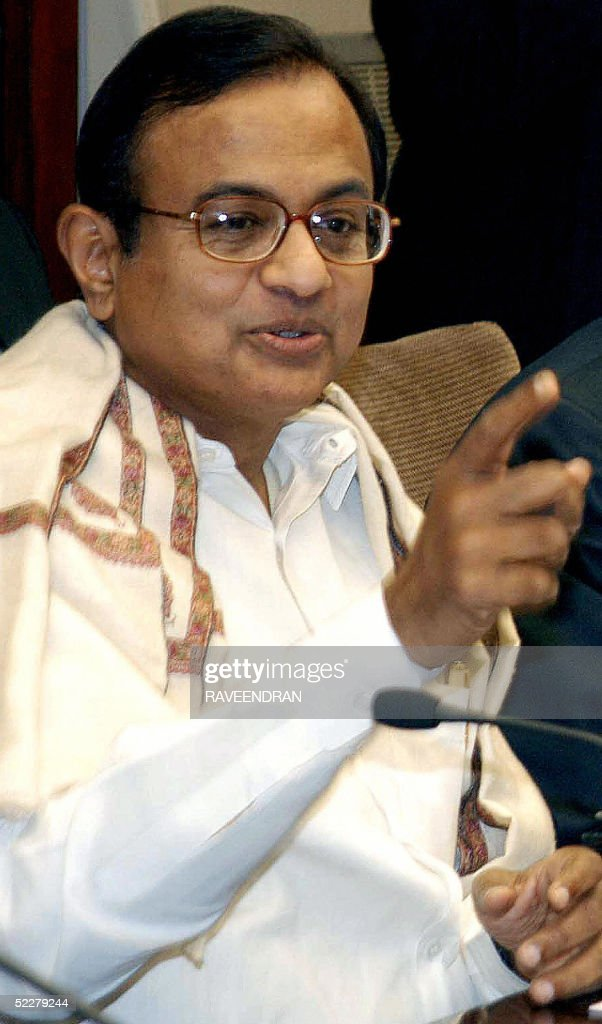 Indian Finance Minister P Chidambaram gestures as he addresses the annual meeting of Reserve Bank of India Board and Finance Ministry Budget meeting...