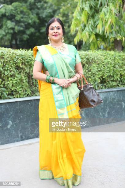 Indian folk singer Malini Awasthi during the UMAK festival at Indian Council for Cultural Relations on May 27 2017 in New Delhi India The dance...