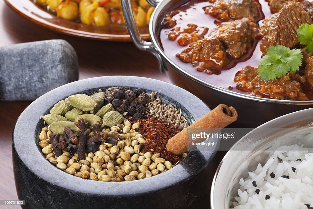Indian Food and Spices : Stock Photo