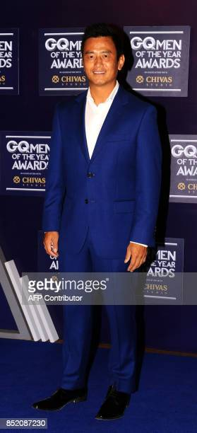 Indian footballer Bhaichung Bhutia attends GQ India's ninth anniversary with the annual Men of the Year Awards 2017 in Mumbai on September 22 2017 /...