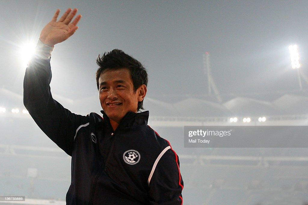 Bhaichung Bhutia's farewell match : News Photo