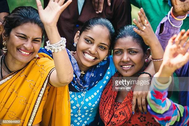 Indischen Freunden Celabrating Holi in Indien