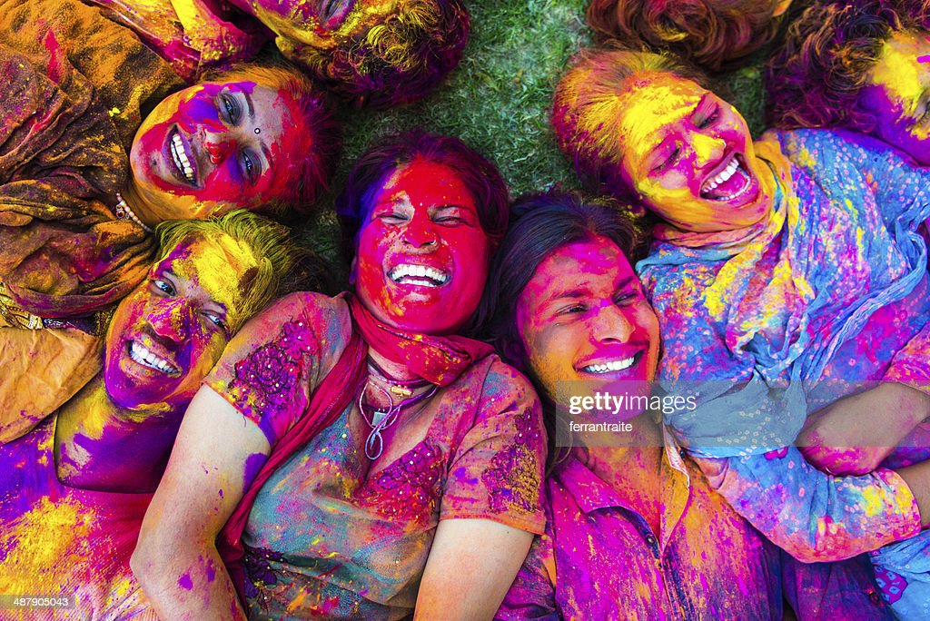 Indian Friends Celabrating Holi