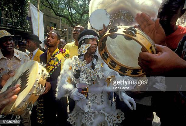 Indian Gang Dancing at Mardi Gras