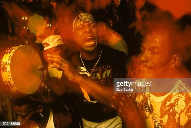 Indian Gang Singing at Mardi Gras