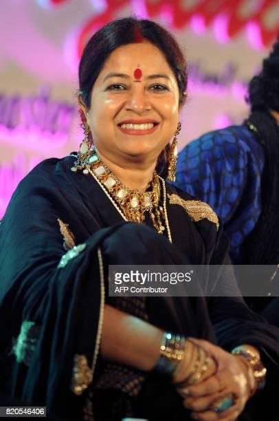 Indian Ghazal singer Rekha Bharadwaj attends the Ghazal music festival 'Khazana' raising funds for cancer patients in Mumbai on July 21 2017 / AFP...