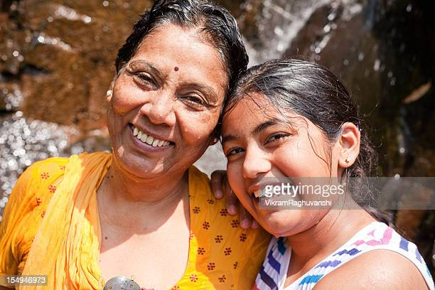 Indian Grandmother and Granddaughter enjoying their vacations