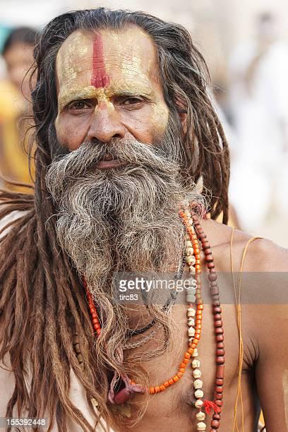 Indian holy man at Pushkar Camel Fair