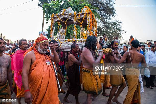Indian Holy man or Naga Baba participate in the monthlong great bathing festival or Simhastha Mela [Kumbh Mela] in Ujjain Thousands of pilgrims...