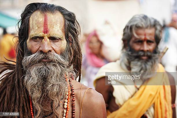 Indian holy men at Pushkar Camel Fair