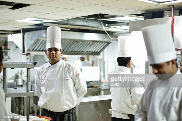 Indian hotel chefs in the kitchen