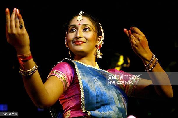 Indian Kathak dancer Swati Sinha performs traditional dance Kathak during celebrations for the Amritsar Heritage festival in Amritsar on February 21...