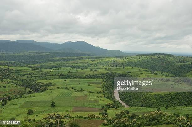 Indian landscape in monsoon