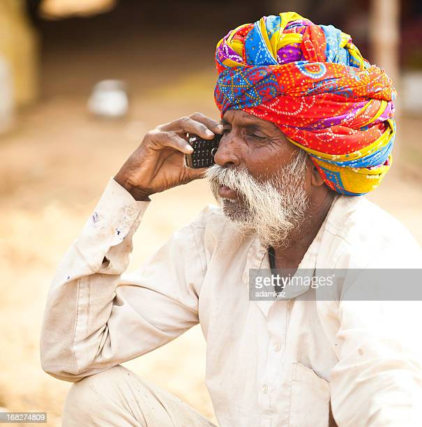 Indian Man on Cell Phone